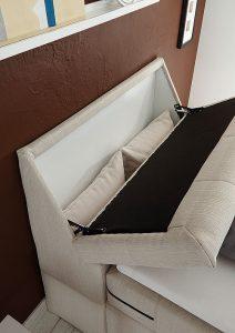 Boxspringbett mit motorischer Kopf- und Fußteilverstellung, Bettkasten