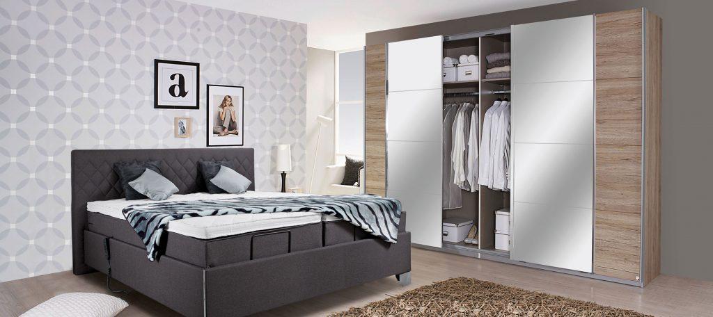 Boxspringbett und kleiderschrank große auswahl an schlafzimmer möbeln
